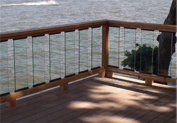 Glass slat panels make a great look for your deck.