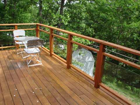 Glass deck railing panels available for installation in Macomb county homes