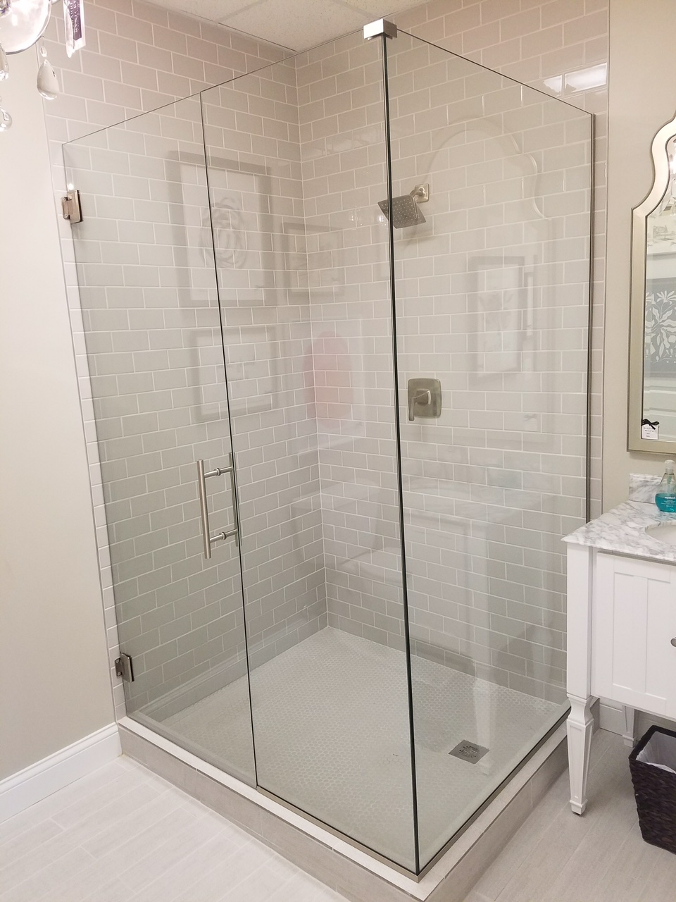 custom shower door fitted to your shower the glass experts at kosinu0027s glass will measure