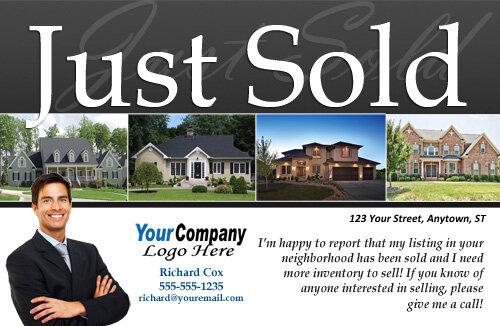 real estate just sold flyer templates - real estate postcards
