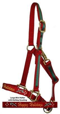Christmas Horse Tack.Miniature Horse Christmas Halter