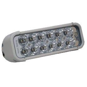 8 Xmitter Led Light Bar With 12 Huge Led Lights White Housing