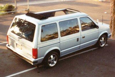 Dodge Minivan With 35 X 70 Sliding Ragtop Kit Installed