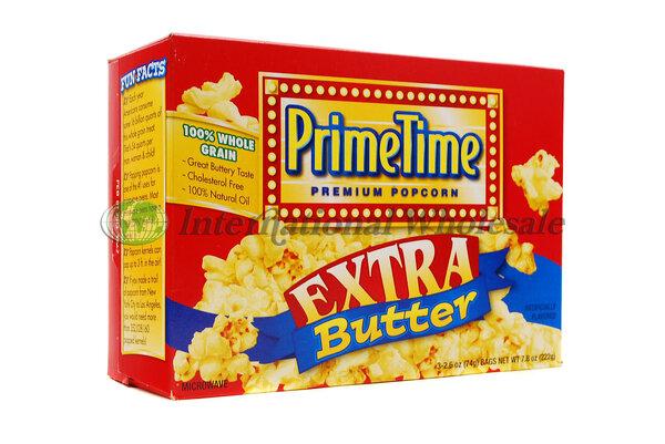 POPCORN PRIME TIME EXTRA BUTTER 12/3PK, POPCORN PRIME TIME