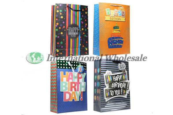 PS BIRTHDAY FUN ADULT GIFT BAG JUMBO 48 CS