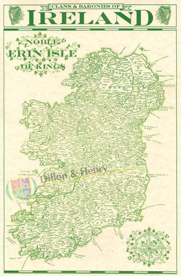 Clans Baronies Of Ireland Map Celtic Expressions
