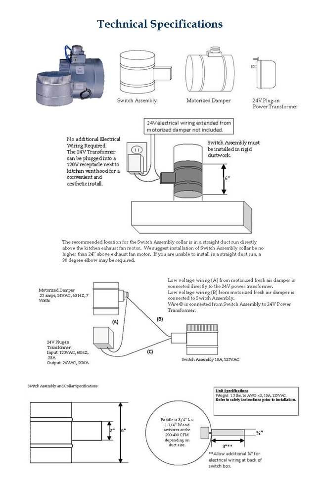 Make-Up Air Kit on damper system, damper hvac diagram, damper control diagram,