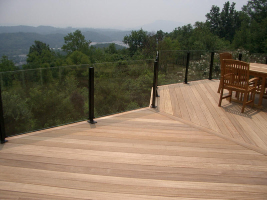 Deck Glass Custom Deck Railing Glass For Deck Rails