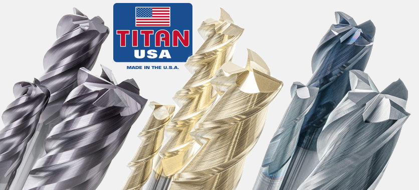 1//16 Size Uncoated 1-1//2 Overall Length Square End Titan TC10204 Solid Carbide End Mill 30 Degree Helix 1//8 Cutting Length 1//8 Shank Diameter Stub Length 2 Flute
