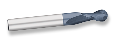 6-3//8 Overall Length Titan TE68162 High Speed Steel End Mill 30 degree Angle Helix Double End 1 Cutting Diameter 1 Shank Diameter Non Center Cutting 1-7//8 Length of Cut AlTiN Coated